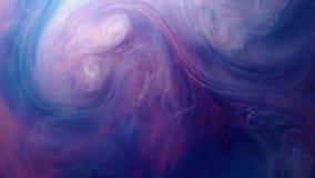 Levendig kleurrijk purper blauw roze van de acrylachtergrond van de de motietextuur van de verfdaling voor abstract concept stock videobeelden