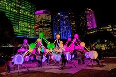 Levendig Levend festival in Sydney stock fotografie