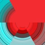 Levendig ontwerp in rode en blauwe tinten Stock Foto