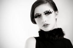 Levendig Zwart-wit Portret stock afbeeldingen
