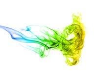 Levendige abstracte rook die kwallen vormt Royalty-vrije Stock Foto's