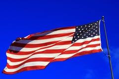 Levendige Amerikaanse Vlag Royalty-vrije Stock Afbeeldingen