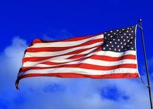Levendige Amerikaanse Vlag Stock Afbeelding