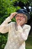 Levendige bejaarde dame royalty-vrije stock afbeeldingen