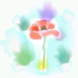 Levendige bloemimitatie van waterverf Stock Afbeelding