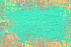 Levendige colorfull abstracte die het schilderen achtergrond met penseelstreken wordt ontworpen Stock Foto's