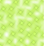 Levendige groene naadloze tegel als achtergrond met mengsel vierkant decor en fijn transparantieeffect Stock Afbeelding