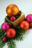 Levendige Kerstmisdecoratie Royalty-vrije Stock Foto's