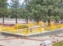 Levendige kleuren in een begraafplaats Royalty-vrije Stock Foto's