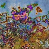 Levendige kleurenplonsen vector illustratie