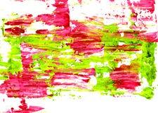 Levendige roze en groene abstractly uitgespreide verf Royalty-vrije Stock Foto