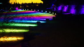 Levendige Sydney Light Installation Royal Botanical-Tuinen royalty-vrije stock afbeelding
