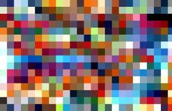 Levendige vierkante kleurrijke achtergrond Golven zoals vormen, abstracte achtergrond royalty-vrije illustratie