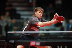 LEVENKO Andreas backhand. Qualifications Group at the World table tennis championships in Dusseldorf. 29 May 6 june 2017 Royalty Free Stock Image