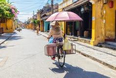 Levensonderhoud op Hoi An de oude stad Stock Fotografie