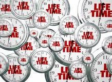 Levenspanwijdte Live Expectancy Clocks Flying vector illustratie