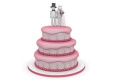 Levensstijl - de cake van het Huwelijk Stock Afbeelding