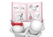 Levensstijl - de fotoalbum van het Huwelijk Royalty-vrije Stock Afbeelding