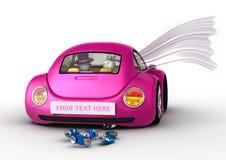 Levensstijl - die enkel in de auto wordt gehuwd Stock Afbeelding