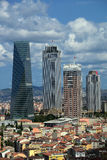 4.Levent businness disctrict. At istanbul Royalty Free Stock Images