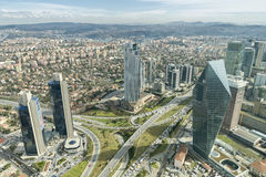 Levent District, Istanbul, Turkey Royalty Free Stock Photos