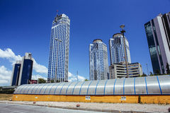 Levent district  in Istanbul Royalty Free Stock Photography