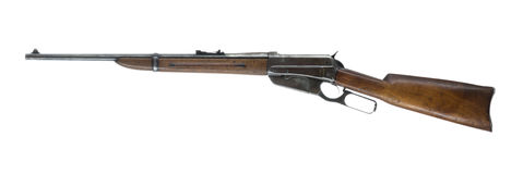Lever Action Rifle Isolated on White Background Left Stock Photography