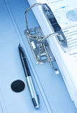 Lever Arch File with pen. Stock Image