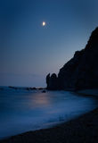 lever de la lune Photo stock