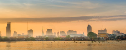 Lever de soleil à Bangkok Image libre de droits