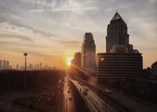 Lever de soleil à Bangkok Photos stock