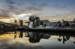 Lever de soleil à Bilbao Photo libre de droits