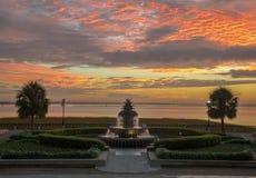 Lever de soleil à Charleston images libres de droits