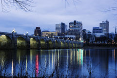 Lever de soleil à Harrisburg Photos libres de droits