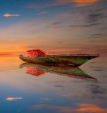 Lever de soleil à l'île de Labuan Images libres de droits