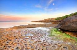Lever de soleil à l'Australie nue d'île Photo libre de droits
