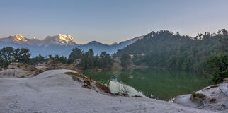 Lever de soleil à l'Himalaya Image libre de droits