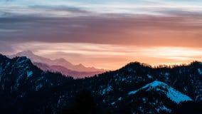 Lever de soleil à l'Himalaya photographie stock