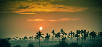 Lever de soleil à l'Inde du sud Photos libres de droits