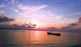 Lever de soleil à l'Océan Indien photo libre de droits