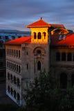 Lever de soleil à l'université de l'architecture Photo stock