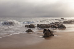 Lever de soleil à la baie de Monterey Images stock