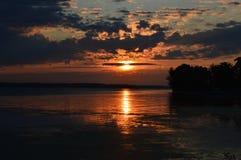 Lever de soleil à la baie de rat musqué Image stock