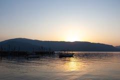 Lever de soleil à la baie de Marmaris - Turquie photos stock