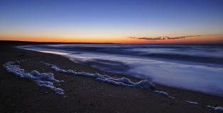 Lever de soleil à la côte Photo libre de droits