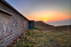Lever de soleil à la crête de coucher du soleil Photo libre de droits