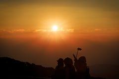Lever de soleil à la montagne d'inthanon Photo stock