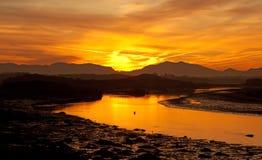 Lever de soleil à la passerelle de quatre milles Photographie stock libre de droits