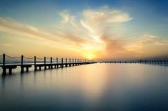 Lever de soleil à la piscine du nord de Narrabeen Images libres de droits