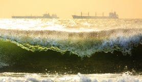 Lever de soleil à la plage Photographie stock libre de droits